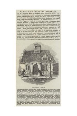 St Bartholomew's Chapel, Kingsland