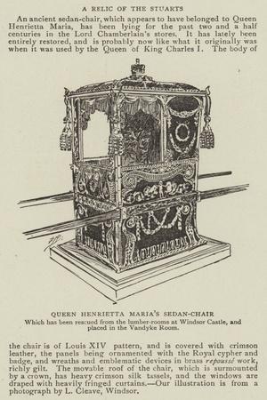 Queen Henrietta Maria's Sedan-Chair