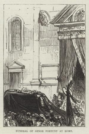 Funeral of Senor Fortuny at Rome