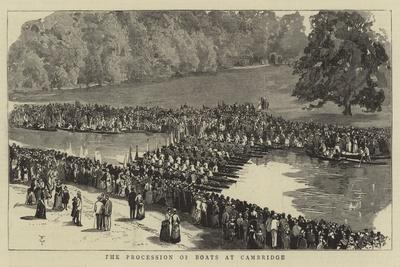 The Procession of Boats at Cambridge