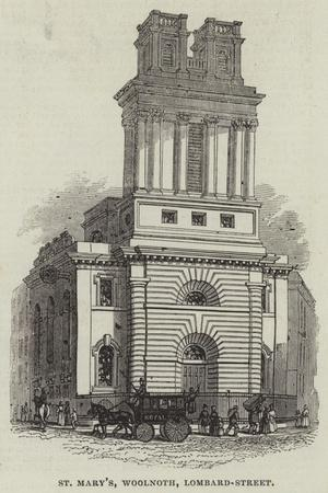 St Mary'S, Woolnoth, Lombard-Street