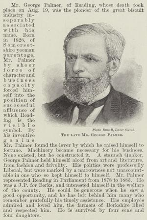 The Late Mr George Palmer