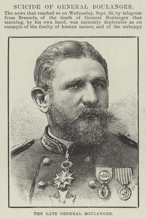 The Late General Boulanger