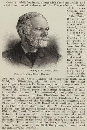 The Late John Scott Bankes