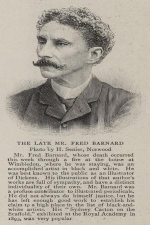 The Late Mr Fred Barnard