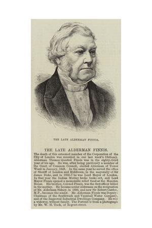 The Late Alderman Finnis