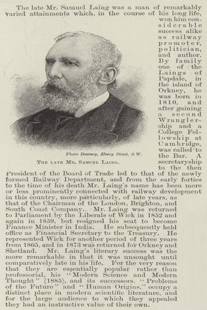 The Late Mr Samuel Laing