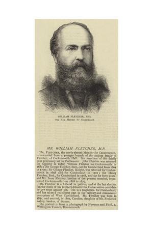 Mr William Fletcher