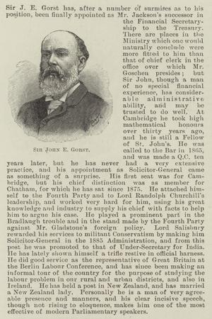 Sir John E Gorst