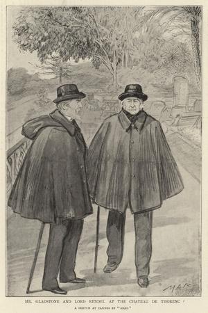 Mr Gladstone and Lord Rendel at the Chateau De Thorenc