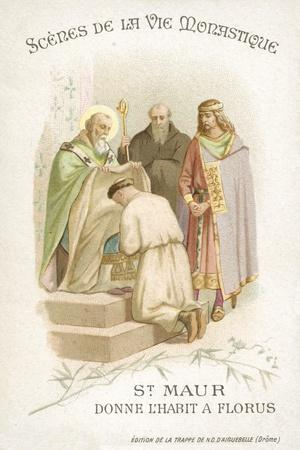 St Maurus Gives Florus His Habit