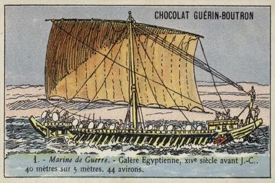 Ancient Egyptian Galley, 14th Century BC