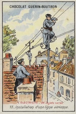 Installing an Overhead Power Line