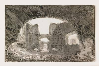 Sketch of the Baths of Caracalla, Early 19th Century