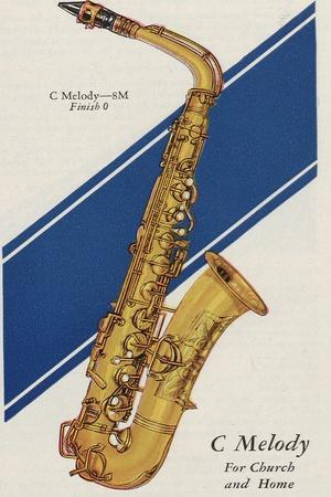 A Charles Gerard Conn C Melody 8-M with a Finish 0
