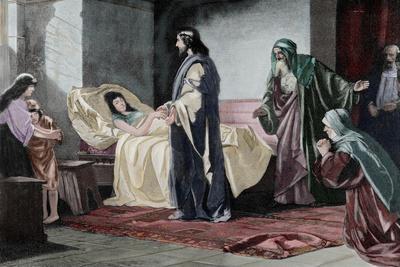 Resurrection of Jairus' Daughter, by Rusing