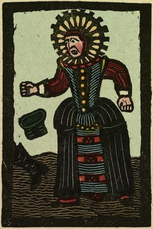 Illustration of English Tales Folk Tales and Ballads. an Angry Woman