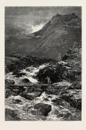 The Stream from Llyn Idwal, North Wales, UK, 19th Century