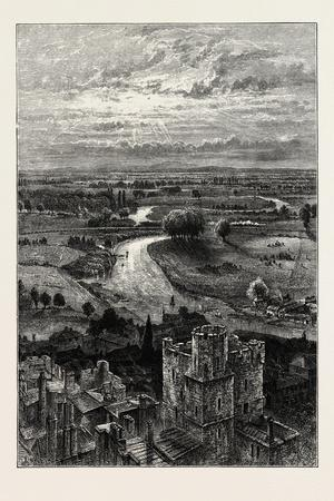 The Thames Valley, from the Round Tower, UK, 19th Century