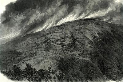 Mont Vuache Switzerland, 1870, Haute Savoie Fire Mountain