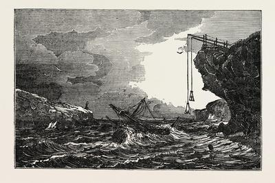 Communication with a Ship in Distress by Means of the Cliff Waggon