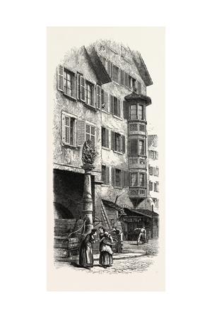 Street Fountain, Zurich, Switzerland, 19th Century