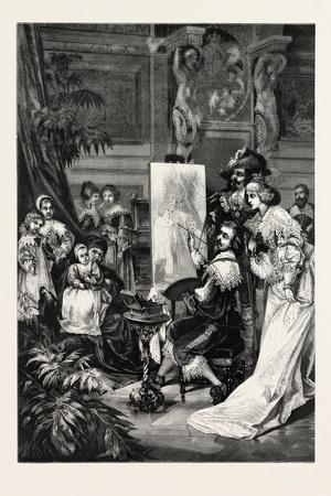 Van Dyck Painting of the Children of Charles I, 1882