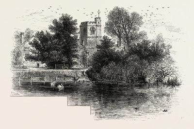 Bray Church, Scenery of the Thames, UK, 19th Century