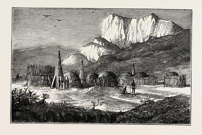 Kraal on the Zulu Border, Cape Colony, South Africa