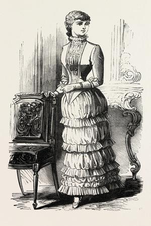 Dinner Dress for Girl of Fifteen, Fashion, 1882
