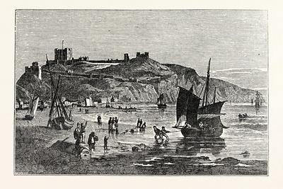 Dover Castle from the Beach under Shakspeare's Cliff