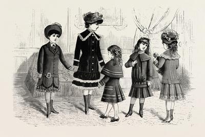 Children's Winter Costumes, Fashion, 1882