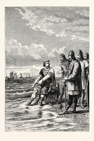 Canute Rebukes the Flattery of His Courtiers