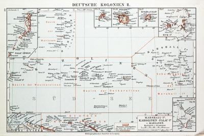 Map of German Colonies German New Guinea 1899