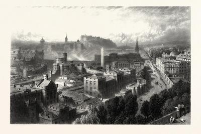 Edinburgh from Calton Hill, Scotland, UK