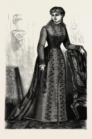 Embroidered Morning Robe, Fashion, 1882