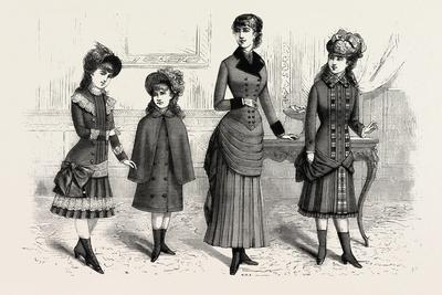 Girls' Winter Costumes, Fashion, 1882