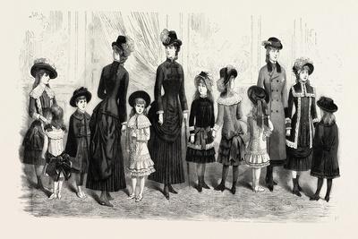 Children's Costumes, Fashion, 1882