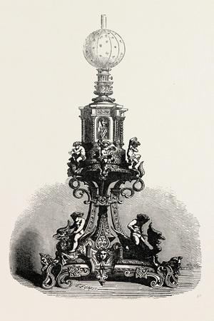Lamp in Gold and Silver, 1851