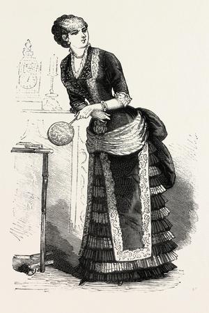 Dinner Dress Front, Fashion, 1882