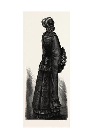 Long Winter Mantle, Fashion, 1882