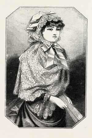 Lace Mantille, Fashion, 1882