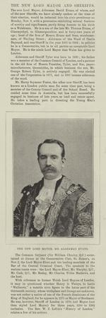 The New Lord Mayor, Mr Alderman Evans