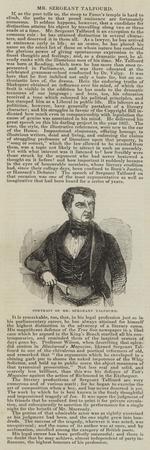 Portrait of Mr Sergeant Talfourd