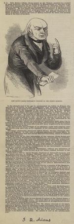 John Quincy Adams, Addressing Congress on the Oregon Question