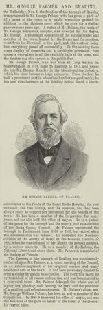 Mr George Palmer, of Reading