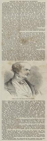 The Late Sir Francis Burdett