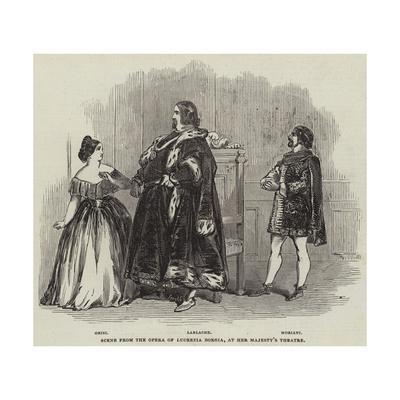 Scene from the Opera of Lucrezia Borgia, at Her Majesty's Theatre