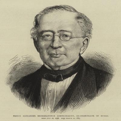 Prince Alexander Michaelovitch Gortschakoff, Ex-Chancellor of Russia