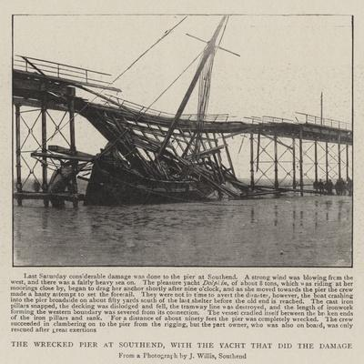 The Wrecked Pier at Southend, with the Yacht That Did the Damage